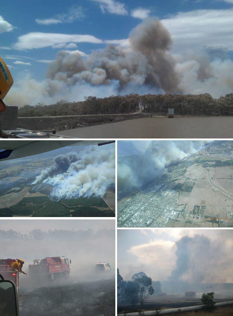 Hernes Oak fire, Morwell Gippsland