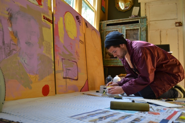 Hugo painting