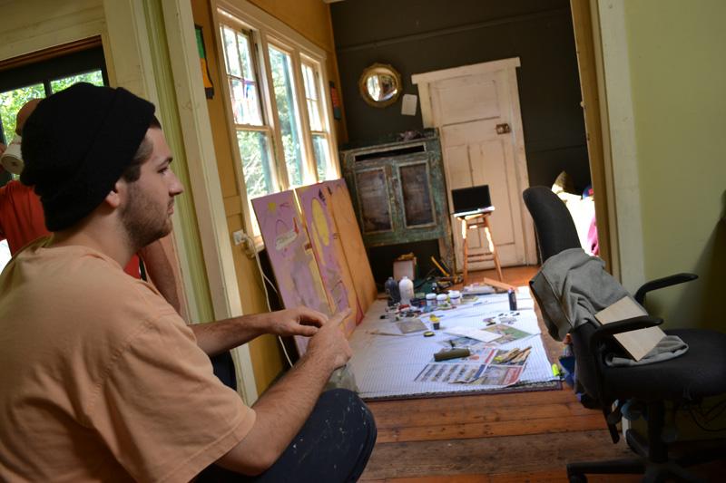 Hugo Razc in studio