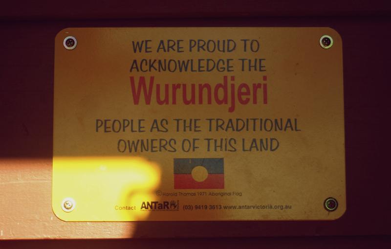 Wurundjeri Plaque