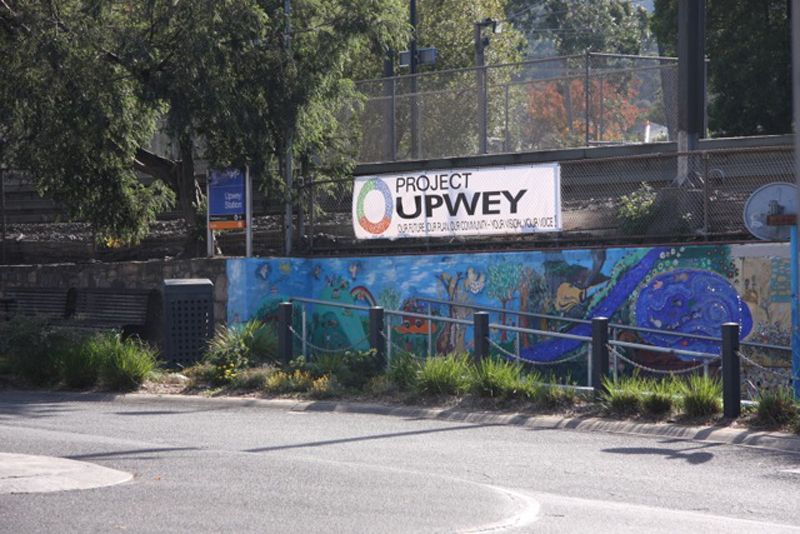 Project Upwey banner station