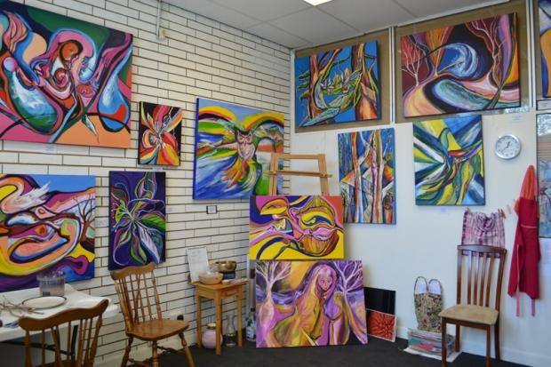 Bev Pergl's studio
