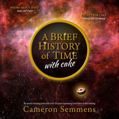A brief History of time with cake by Cameron Semmens.