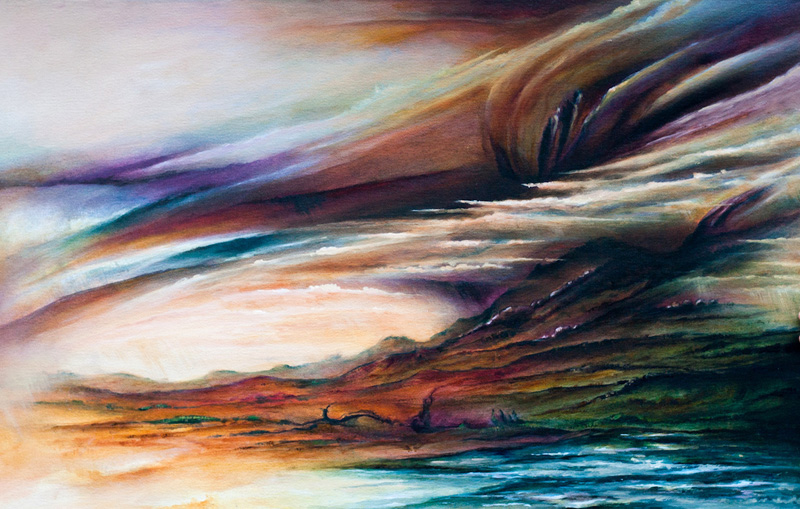 'Desert converges with the sea' by Daniel Rigos